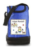 Insulated Lunch Sack with velcro or zippered top closure.